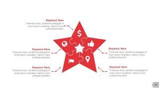 红色图形创意信息可视化PPT图表40