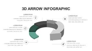 灰绿色创意图形PPT信息可视化图表13