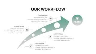 灰绿色创意图形PPT信息可视化图表16