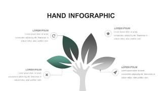 灰绿色创意图形PPT信息可视化图表24