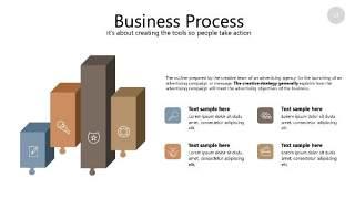 咖啡色思维导图PPT信息可视化图表23