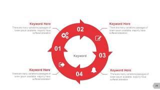 红色图形创意信息可视化PPT图表28