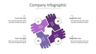 紫色思维箭头PPT信息可视化图表25