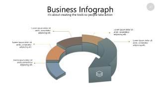 咖啡色思维导图PPT信息可视化图表26