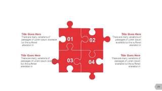 红色图形创意信息可视化PPT图表23