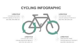 灰绿色创意图形PPT信息可视化图表2