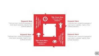 红色图形创意信息可视化PPT图表33