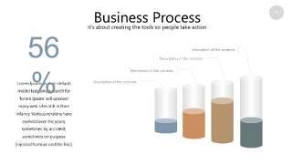 咖啡色思维导图PPT信息可视化图表11