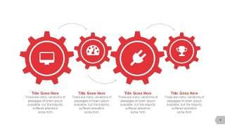 红色图形创意信息可视化PPT图表4