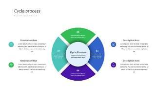 紫绿色饼状PPT信息可视化图表24