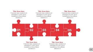 红色图形创意信息可视化PPT图表24