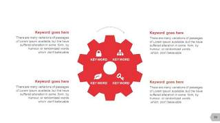 红色图形创意信息可视化PPT图表30