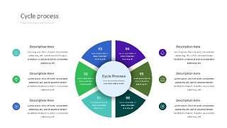 紫绿色饼状PPT信息可视化图表25