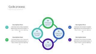 紫绿色饼状PPT信息可视化图表28