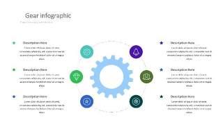 紫绿色齿轮PPT信息可视化图表9