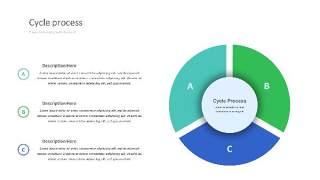 紫绿色饼图PPT信息可视化图表27