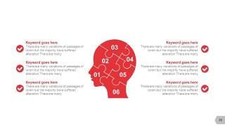 红色拼图大脑创意信息可视化PPT图表39