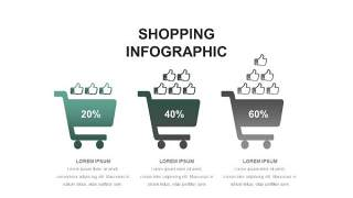 灰绿色创意图形PPT信息可视化图表23