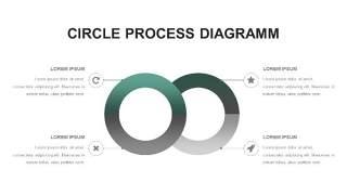 灰绿色创意图形PPT信息可视化图表20