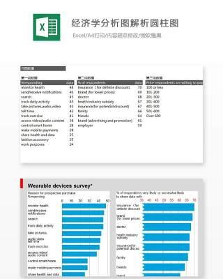 经济学分析图解析圆柱图Excel表格模板