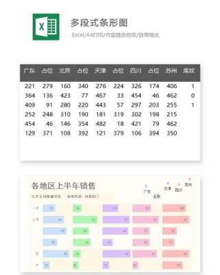 多段式条形图Excel表格模板
