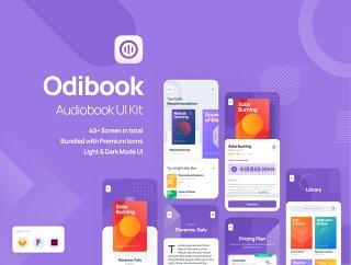 建立与音频和内容设计组件,Odibook美丽的应用程序 - 有声读物UI工具包