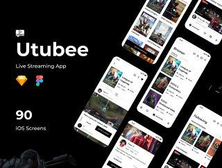 游戏流媒体手机UI套件,Utubee  - 直播应用