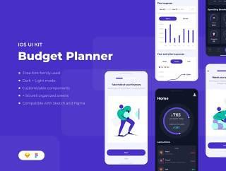 个人理财工具,可以很容易地看到你花了多少钱,预算规划的iOS UI工具包