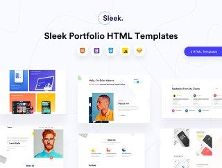 设计师充分响应手工制作的HTML模板,圆滑的投资组合HTML模板