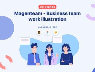 现代诠释为经营宗旨,Magenteam  - 商业插画