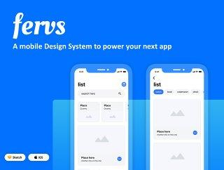 一个移动设计系统,为您的下一个应用程序,Fervs设计系统提供动力