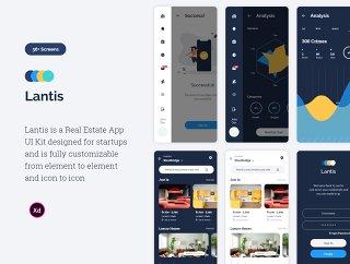 IOS和Android房地产UI套件,LANTIS房地产应用程序UI工具包