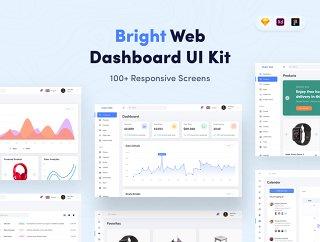 设计下仪表板,明亮的Web UI仪表板套件