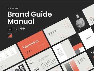 圆滑的品牌指南模板,一个品牌的指南 - 品牌指南