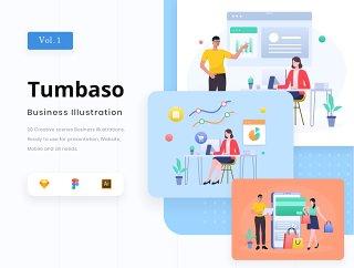 20个创意场景商业插画,Tumbaso  - 商业插画包