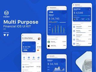 论金融多用途的iOS UI套件素描和FIGMA,理论金融iOS的UI工具包兼容