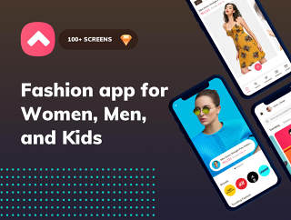 时髦的电子商务应用,扣式时尚手机应用程序 -  UI套件