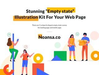 """令人惊叹的""""空状态""""插图工具为你的网页,空美国插图套件"""