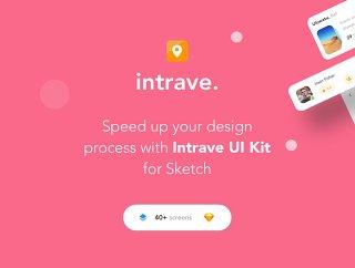 40+的移动应用程序的屏幕iPhone的iOS X屏幕,以提高您的工作流程,Intrave应用程序UI工具包