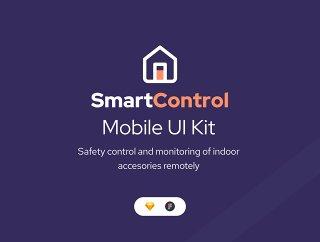20+屏幕UI套件智能家居移动应用在素描和FIGMA和SmartControl UI工具包