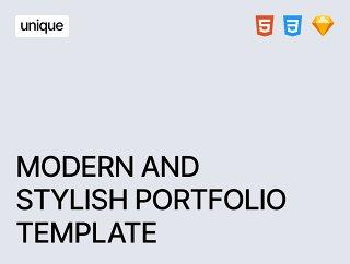 清洁和现代投资组合模板HTML5和素描,独特的 - 响应组合模板