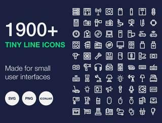 这些图标很容易,即使小比例,微短线图标识别 -  1900+捆绑