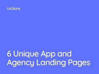 6独特的应用和局着陆页,UxStore模板