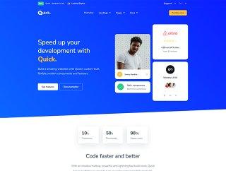 快速帮助您构建脱颖而出漂亮的用户界面和自动适应你的品牌的身份,快速 - 网站UI工具包