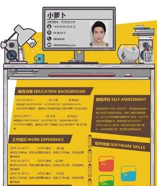创意时尚教育互联网简历模板11