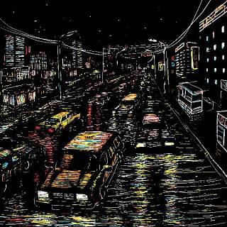 欧美艺术绘画创意美术手绘涂鸦抽象人物场景插画eps矢量设计素材-23