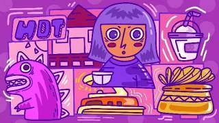 创意手绘抽象插画儿童涂鸦幻想太空外星海报背景PSD模板设计素材10