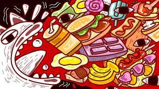 创意手绘抽象插画儿童涂鸦幻想太空外星海报背景PSD模板设计素材15