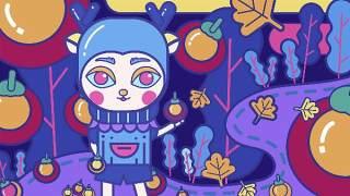 创意手绘抽象插画儿童涂鸦幻想太空外星海报背景PSD模板设计素材02