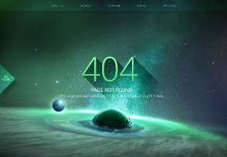 星空宇宙星球网页404错误页面PSD模板10